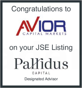 Avior Capital Markets (Pty) Ltd. listed on the JSE
